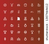editable 36 ceremony icons for... | Shutterstock .eps vector #1307464612