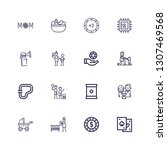 editable 16 mother icons for...   Shutterstock .eps vector #1307469568