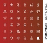 editable 36 honor icons for web ... | Shutterstock .eps vector #1307471968
