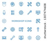 editable 22 workshop icons for... | Shutterstock .eps vector #1307474608