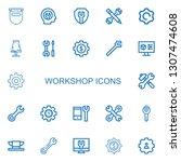 editable 22 workshop icons for... | Shutterstock .eps vector #1307474608