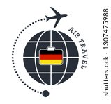 germany air travel. vector... | Shutterstock .eps vector #1307475988