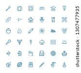editable 36 cooking icons for... | Shutterstock .eps vector #1307477935