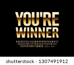 vector golden card you're... | Shutterstock .eps vector #1307491912