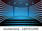 spotlight on the stage | Shutterstock .eps vector #1307511985