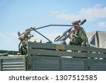 double barreled anti aircraft...   Shutterstock . vector #1307512585