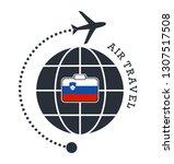 slovenia air travel. vector... | Shutterstock .eps vector #1307517508