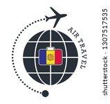 andorra air travel. vector... | Shutterstock .eps vector #1307517535