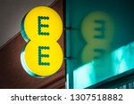 london  february  2019  ee logo ... | Shutterstock . vector #1307518882