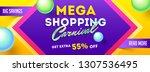 header or banner design with 55 ... | Shutterstock .eps vector #1307536495