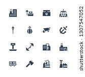 heavy icon set. collection of... | Shutterstock .eps vector #1307547052