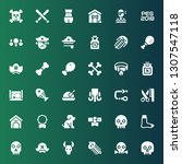 bone icon set. collection of 36 ... | Shutterstock .eps vector #1307547118