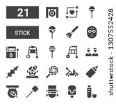 stick icon set. collection of... | Shutterstock .eps vector #1307552428