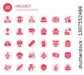 helmet icon set. collection of...   Shutterstock .eps vector #1307552488