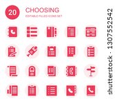 choosing icon set. collection... | Shutterstock .eps vector #1307552542