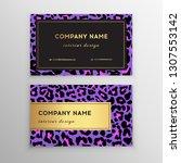 business card trendy leopard... | Shutterstock .eps vector #1307553142