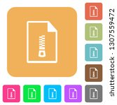 compressed document flat icons... | Shutterstock .eps vector #1307559472