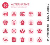 alternative icon set....   Shutterstock .eps vector #1307560882