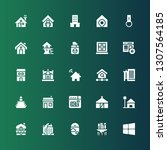 residential icon set.... | Shutterstock .eps vector #1307564185