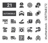 automobile icon set. collection ... | Shutterstock .eps vector #1307568172