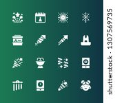 fireworks icon set. collection... | Shutterstock .eps vector #1307569735