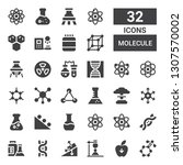 molecule icon set. collection... | Shutterstock .eps vector #1307570002