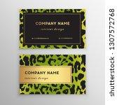 business card trendy leopard... | Shutterstock .eps vector #1307572768