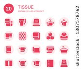 tissue icon set. collection of... | Shutterstock .eps vector #1307578762