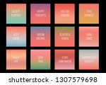 12 gradients with the color of... | Shutterstock .eps vector #1307579698