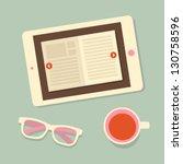 e book   Shutterstock .eps vector #130758596