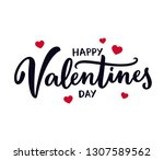 happy valentine's day hand... | Shutterstock .eps vector #1307589562