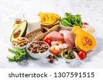 mediterranean diet concept  ...   Shutterstock . vector #1307591515