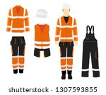 man worker in uniform.... | Shutterstock . vector #1307593855