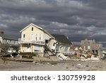 far rockaway  ny   november 4 ... | Shutterstock . vector #130759928