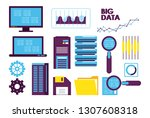 database technology icons | Shutterstock .eps vector #1307608318