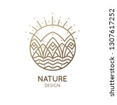 nature logo of mountains  river ...   Shutterstock .eps vector #1307617252