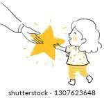 illustration of a kid girl...   Shutterstock .eps vector #1307623648
