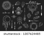 hand drawn boho moon dream...   Shutterstock .eps vector #1307624485
