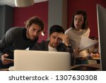 stressed it specialists working ... | Shutterstock . vector #1307630308