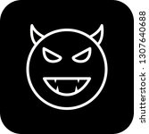 vector devil emoji icon  | Shutterstock .eps vector #1307640688