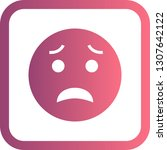 vector scared emoji icon    Shutterstock .eps vector #1307642122