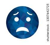 vector scared emoji icon    Shutterstock .eps vector #1307642725