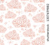 hand draw seamless pattern of...   Shutterstock .eps vector #1307659882