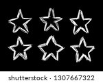 doodle set of black and white... | Shutterstock .eps vector #1307667322