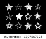 doodle set of black and white... | Shutterstock .eps vector #1307667325