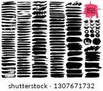 big set of brush strokes  black ... | Shutterstock .eps vector #1307671732