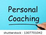 handwriting personal coaching...   Shutterstock . vector #1307701042
