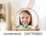 easter  holidays and people... | Shutterstock . vector #1307703832