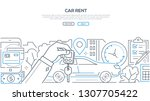 car rent   modern line design... | Shutterstock .eps vector #1307705422