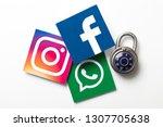 london  uk   february 8th 2019  ... | Shutterstock . vector #1307705638